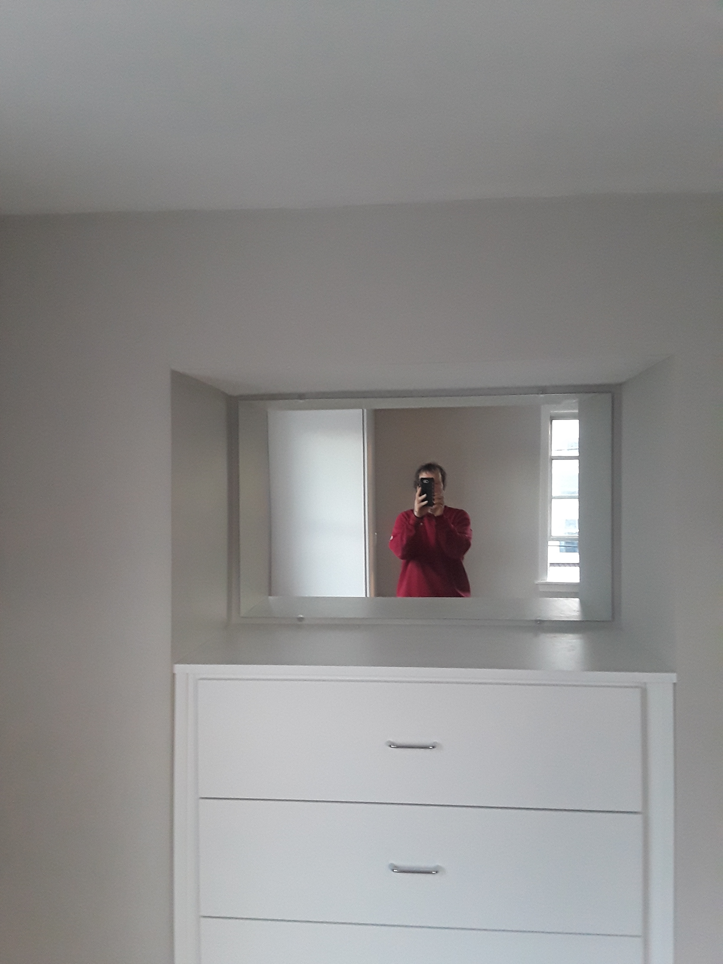Norwood - Mirror in alcove above built in bureau - 2019