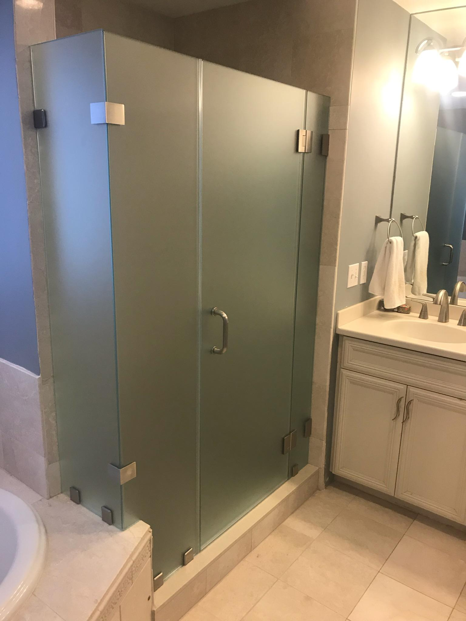 Wang Acid-Washed Glass Shower